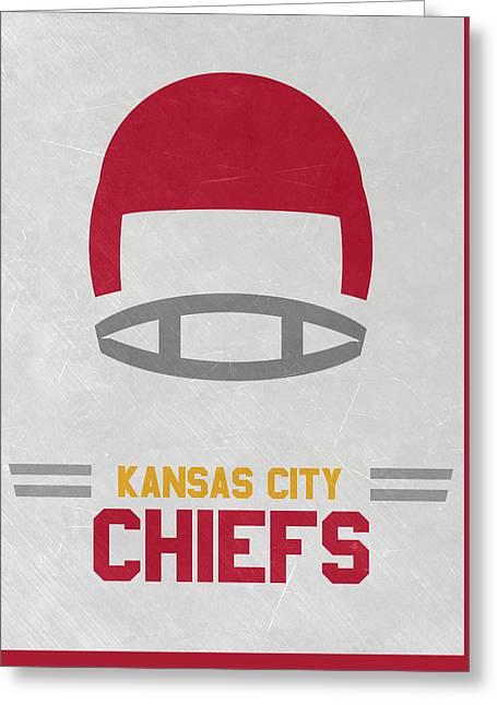 Kansas City Chiefs Vintage Art Greeting Card