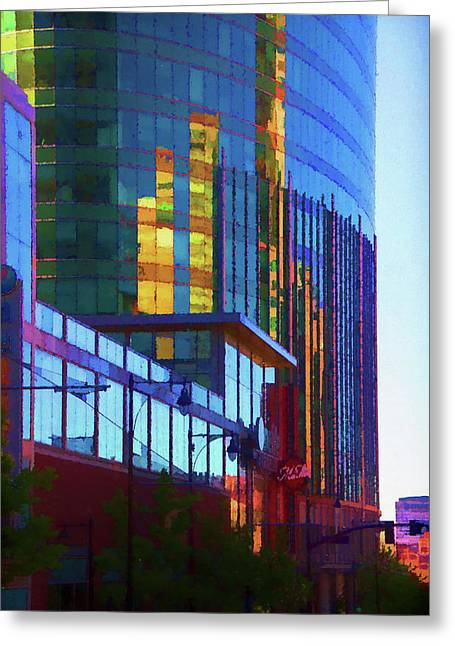 Kansas City High Rise Greeting Card by Terry Davis