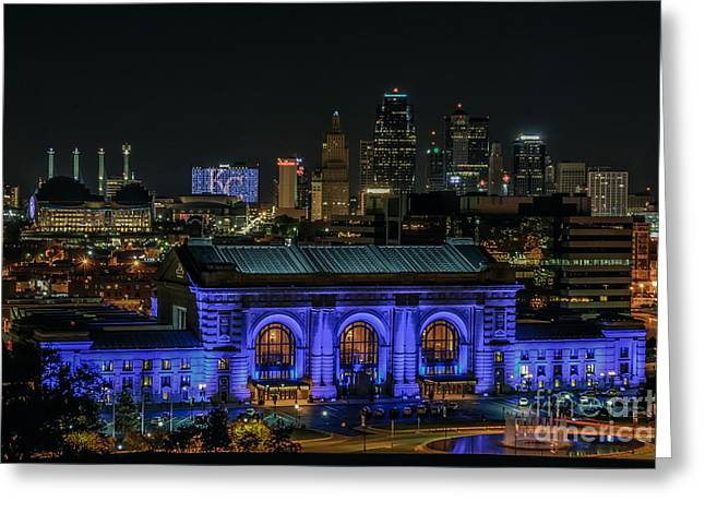 Kansas City In Royal Blue Greeting Card