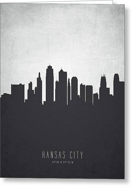Kansas City Missouri Cityscape 19 Greeting Card