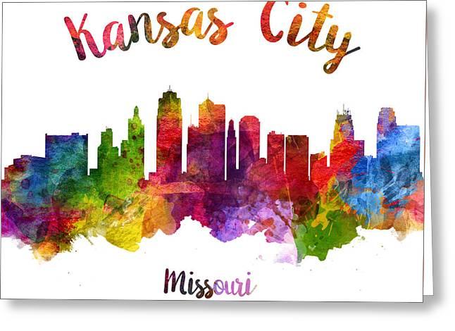 Kansas City Missouri Skyline 23 Greeting Card