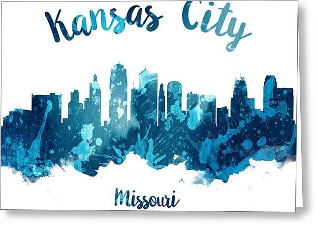 Kansas City Missouri Skyline 27 Greeting Card