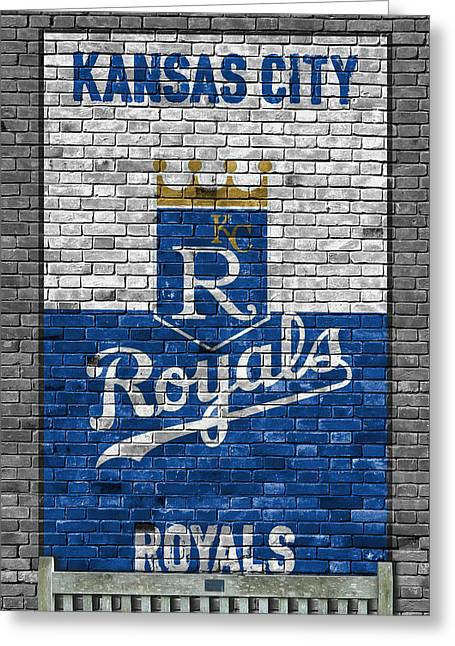 Kansas City Royals Brick Wall Greeting Card by Joe Hamilton