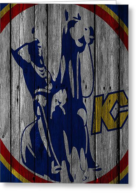 Kansas City Scouts Wood Fence Greeting Card by Joe Hamilton