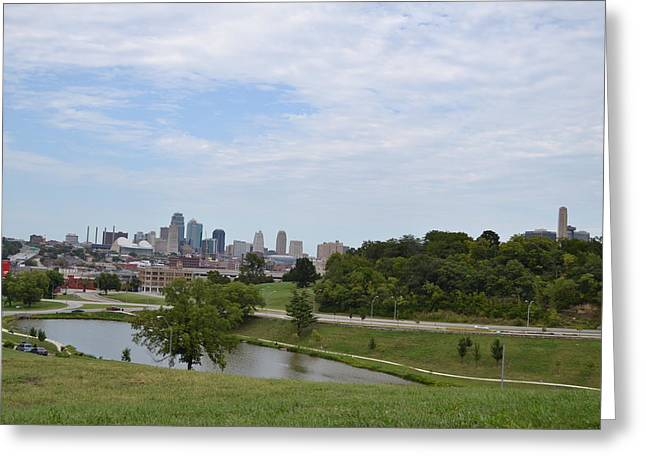 Kansas City Skyline 10 Greeting Card by Shelley Wood