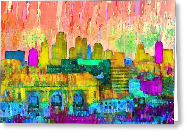 Kansas City Skyline 201 - Pa Greeting Card