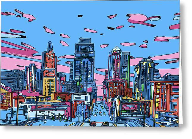 Kansas City Skyline Panorama 4 Greeting Card