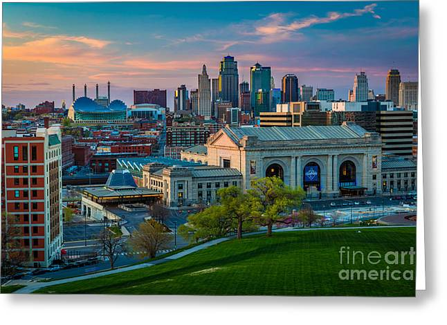 Kansas City Twilight Greeting Card