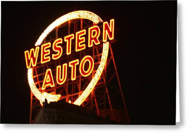 Kansas City Western Auto Greeting Card