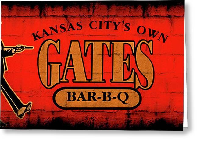 Kansas City's Own Gates Bar-b-q Greeting Card