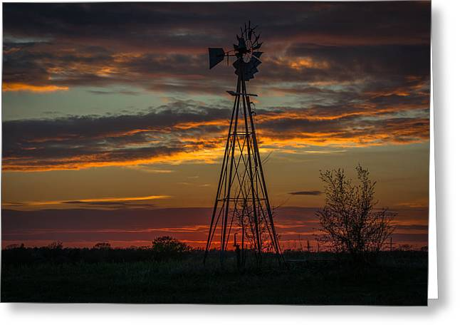 Kansas Colors Greeting Card by Larry Pacey