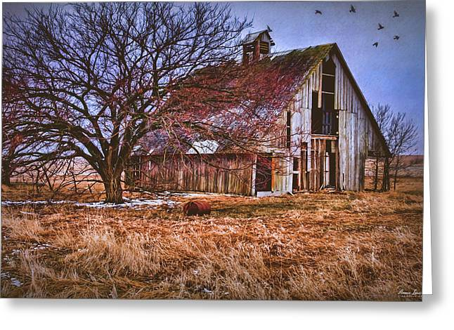 Kansas Countryside Old Barn Greeting Card