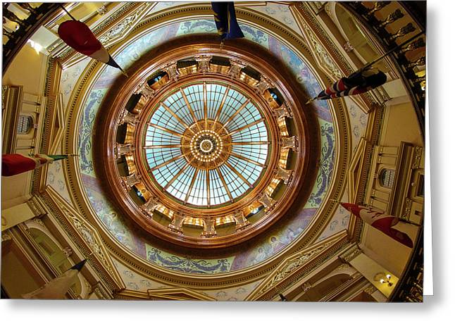 Greeting Card featuring the photograph Kansas Dome by Jim Mathis