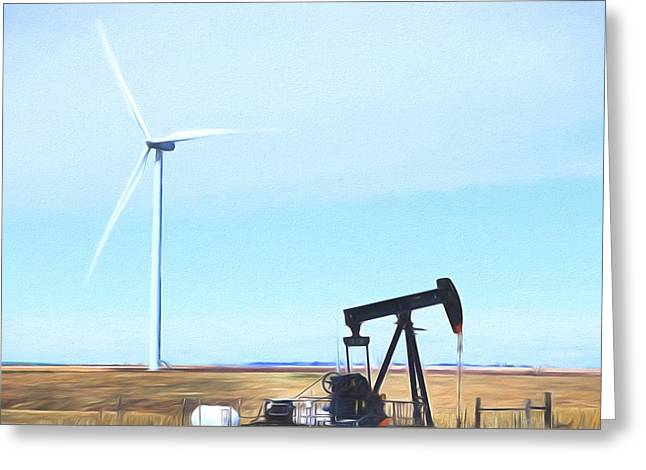 Greeting Card featuring the digital art Kansas Energies  by JC Findley