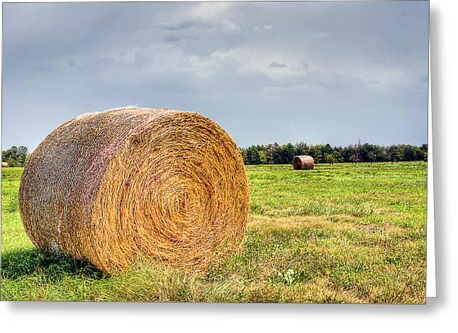 Kansas Hay Bale Greeting Card