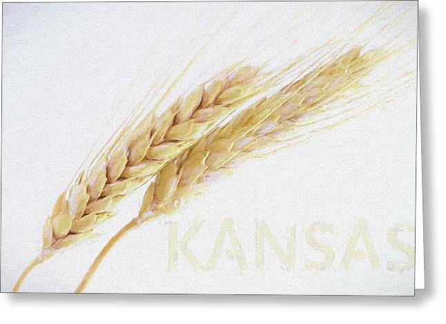 Greeting Card featuring the digital art Kansas by JC Findley