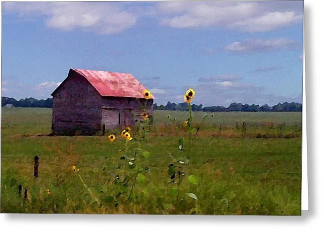 Greeting Card featuring the photograph Kansas Landscape by Steve Karol