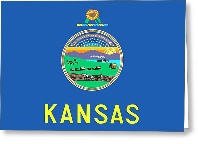 Kansas State Flag Greeting Card by American School