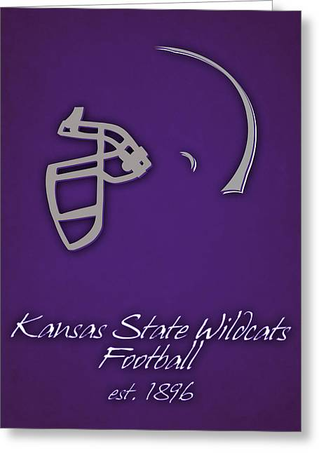Kansas State Wildcats Greeting Card by Joe Hamilton