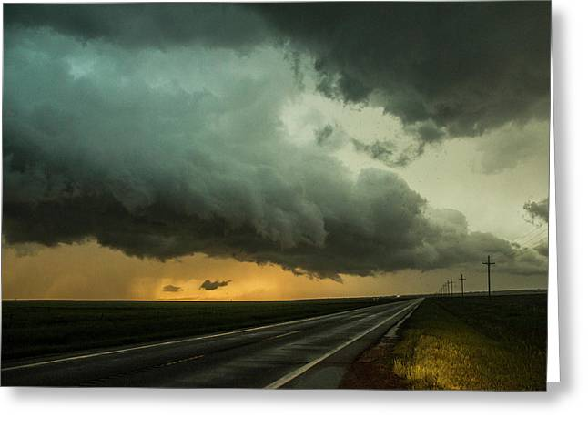 Kansas Storm Chase Bust Day 004 Greeting Card