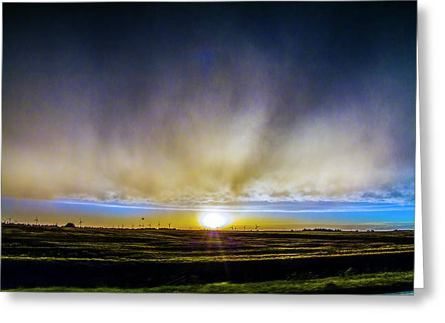 Greeting Card featuring the photograph Kansas Storm Chase Bust Day 005 by NebraskaSC