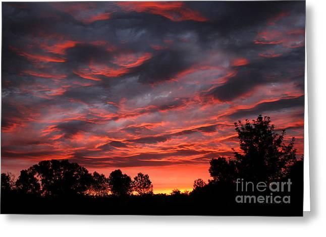 Kansas Sunrise Greeting Card