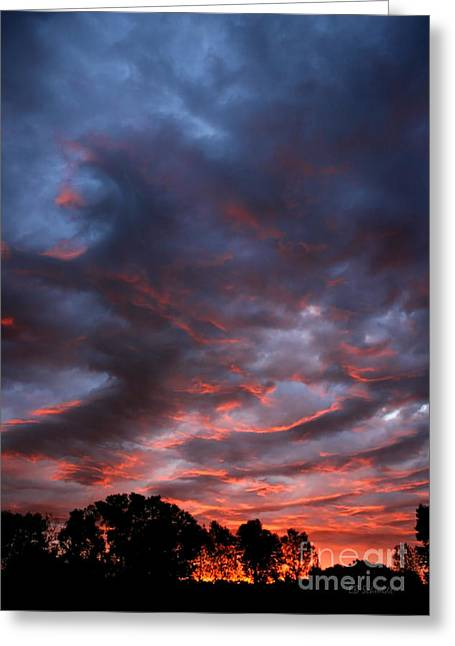Kansas Sunrise Vertical Greeting Card