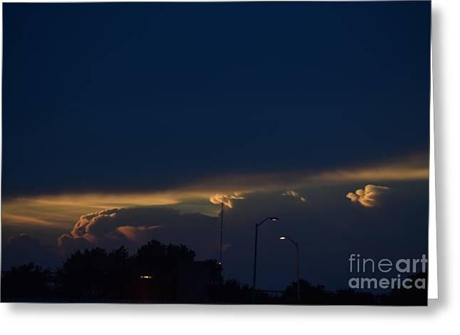 Kansas Sunset Angel Greeting Card