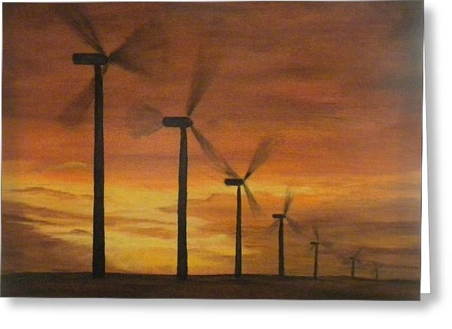 Kansas Wind Farm Greeting Card