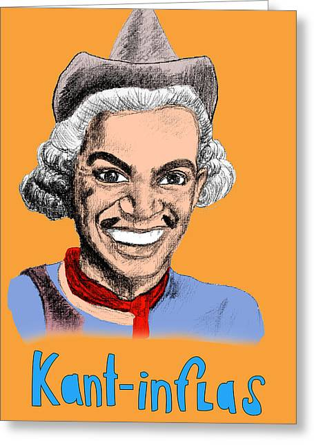 Kant-inflas Greeting Card by Jose Maria Carro Lopez