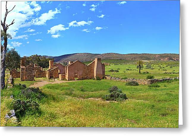 Kanyaka Homestead Ruins Greeting Card by Bill Robinson