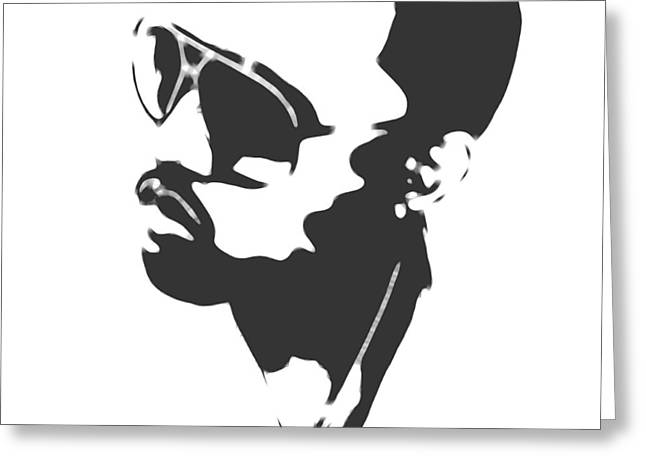 Kanye West Silhouette Greeting Card by Dan Sproul