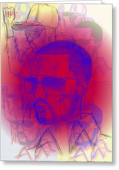 Kanye West Swag  Greeting Card by HPrince De Artist