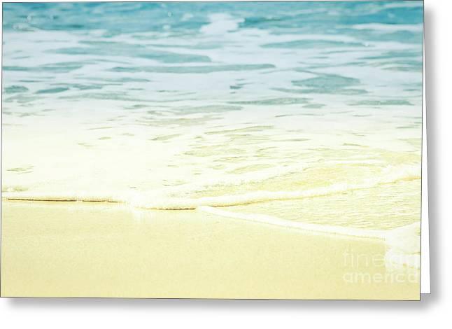 Greeting Card featuring the photograph Kapalua Beach Dream Colours Sparkling Golden Sand Seafoam Maui by Sharon Mau