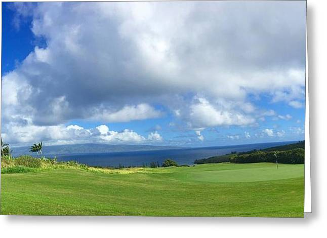Kapalua Golf In Maui Greeting Card by Stacia Blase