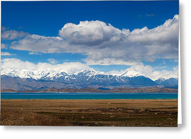 Karakul Lake Panorama Greeting Card