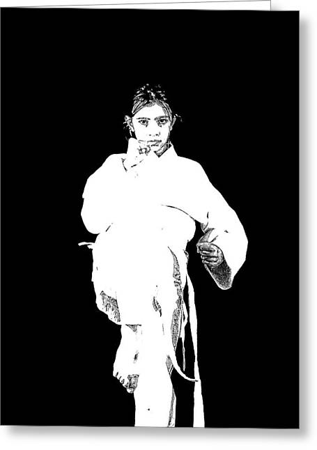 Sport martial arts greeting cards page 14 of 17 fine art america karate girl ready to fight greeting card m4hsunfo