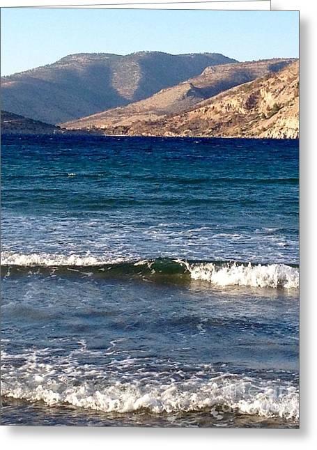 Kardamila Chios Greece Greeting Card