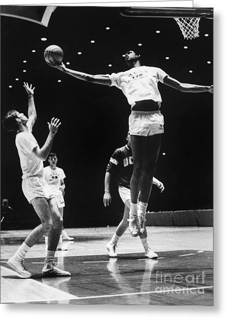 Kareem Abdul Jabbar (1947-) Greeting Card by Granger