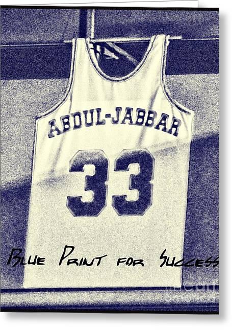 Kareem Abdul-jabbar Greeting Card by RJ Aguilar