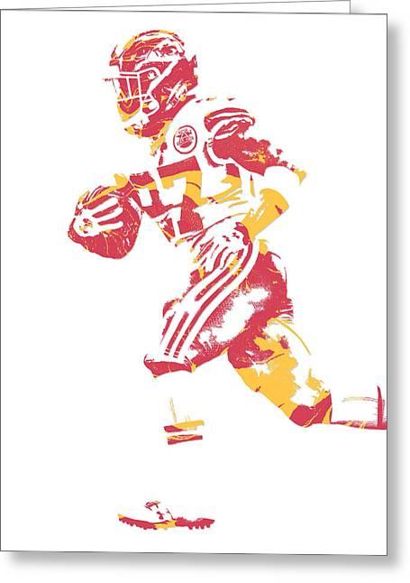 Kareem Hunt Kansas City Chiefs Pixel Art 1 Greeting Card