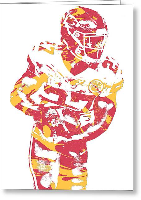 Kareem Hunt Kansas City Chiefs Pixel Art 11 Greeting Card