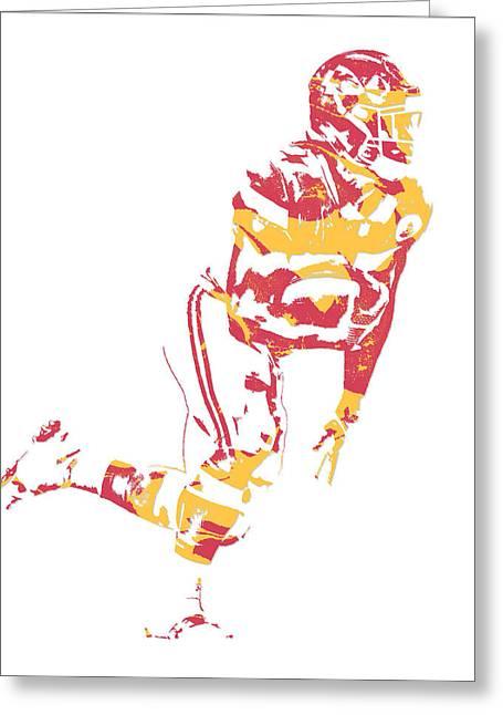 Kareem Hunt Kansas City Chiefs Pixel Art 4 Greeting Card