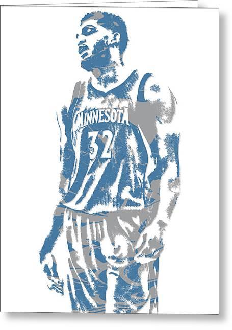 Karl Anthony Towns Minnesota Timberwolves Pixel Art 6 Greeting Card