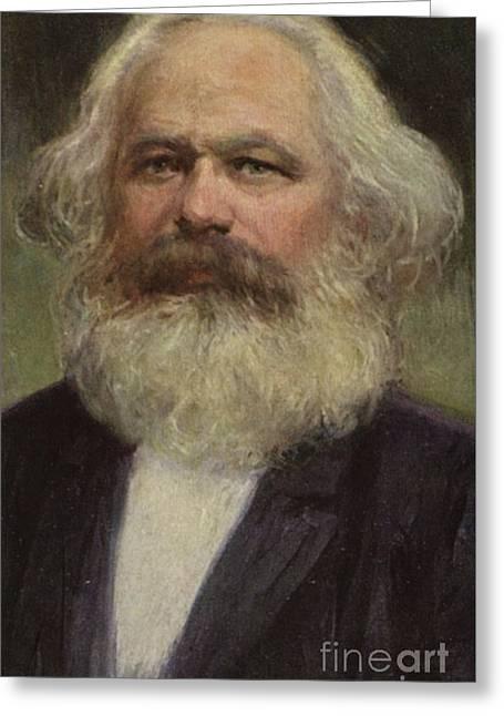 Karl Marx  Greeting Card by European School