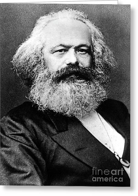 Karl Marx  German Politician Economist And Philosopher One Of The Authors Of Communist Pa Greeting Card by English School