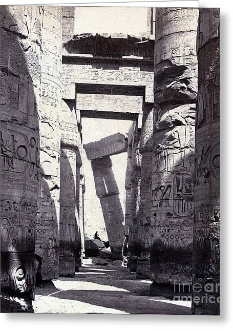 Karnak, Great Hypostyle Hall, 19th Greeting Card by Science Source