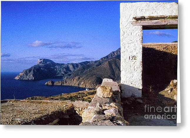 Greeting Card featuring the photograph Karpathos Island Greece by Silvia Ganora