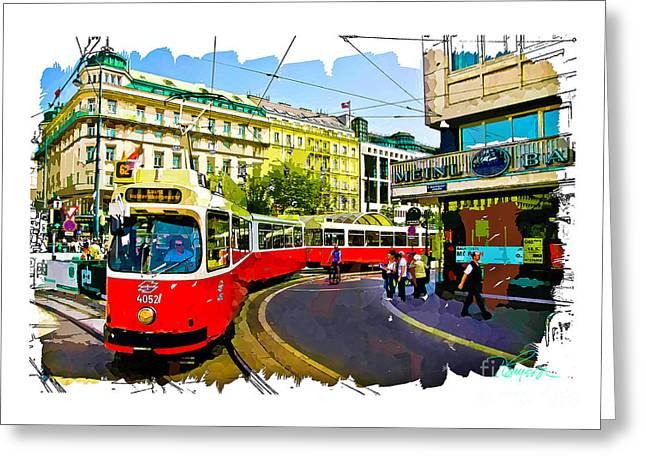 Kartner Strasse - Vienna Greeting Card
