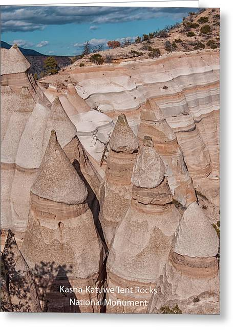 Kasha-katuwe Tent Rocks Greeting Card